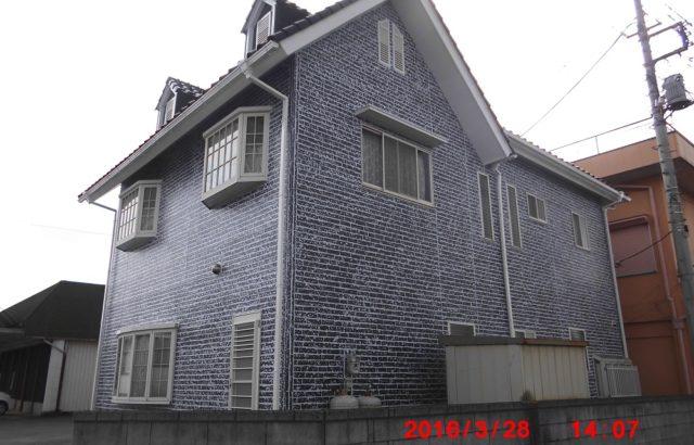 栃木県真岡市 外壁塗装 特殊模様2色塗り WBアートSi