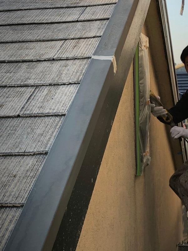 栃木県佐野市 外壁塗装 屋根塗装 下地処理 高圧洗浄 シーリング工事