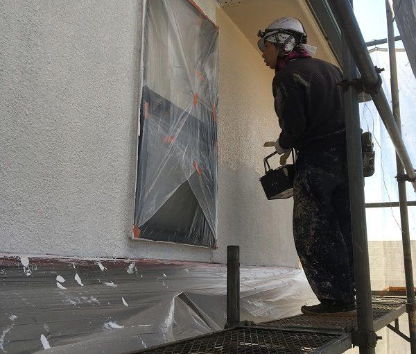栃木県さくら市 外壁塗装 ひび割れ補修 コーキング打ち替え工事 AGCルミフロン