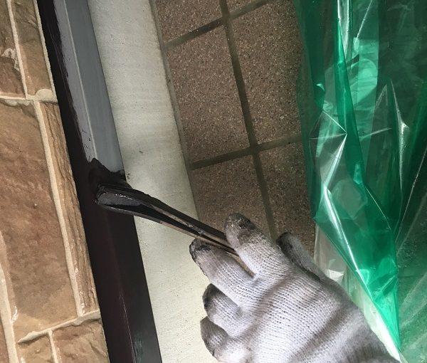 栃木県那須烏山市 外壁塗装 付帯部塗装 水切り塗装 ケレン作業