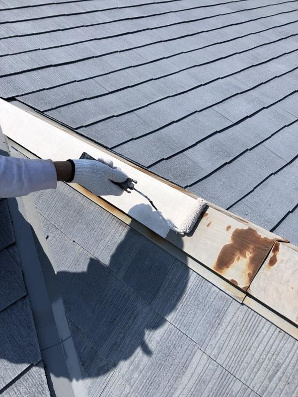 栃木県河内郡上三川町 外壁塗装 屋根塗装 AGCコーテックの屋根用塗料 ルミステージ 弱溶剤GT