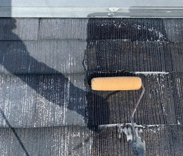 栃木県河内郡上三川町 M様邸 屋根塗装 日本ペイント サーモアイシーラー サーモアイ4F (2)