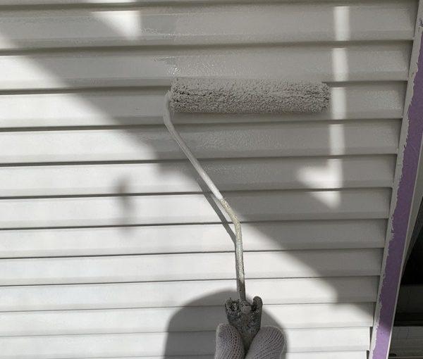 栃木県河内郡上三川町 M様邸 付帯部塗装 雨戸(戸袋)塗装 チョーキング現象 (1)