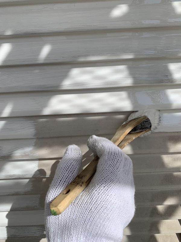 栃木県河内郡上三川町 M様邸 付帯部塗装 雨戸(戸袋)塗装 チョーキング現象 (2)
