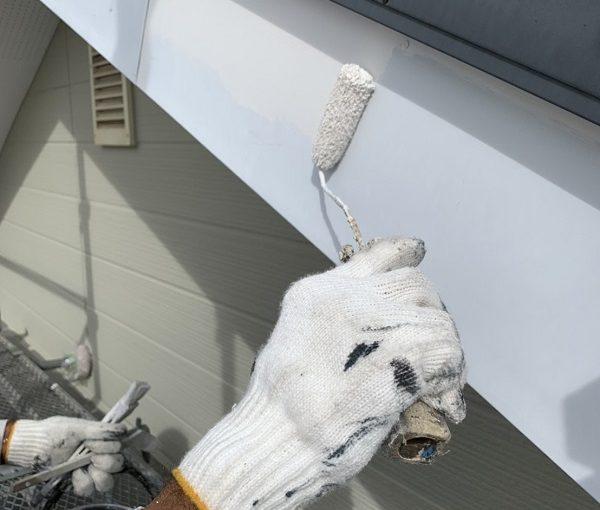 栃木県河内郡上三川町 M様邸 付帯部塗装 破風板塗装 破風板の場所・役割