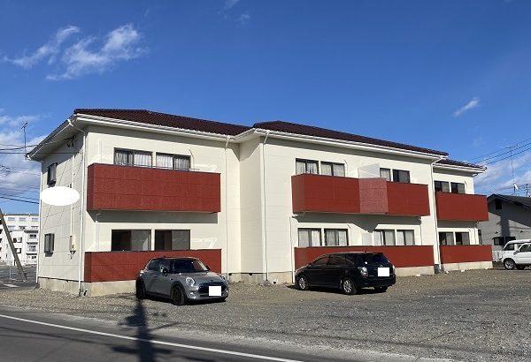 栃木県河内郡上三川町 アパート 外壁塗装