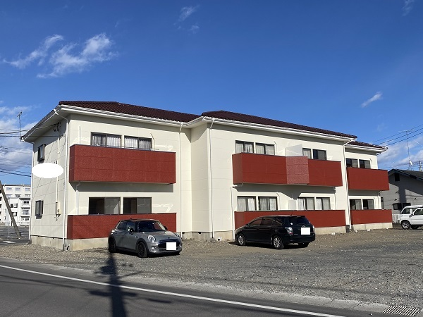 栃木県河内郡上三川町 アパート 外壁塗装 アステックペイント 超低汚染リファイン1000MF-IR