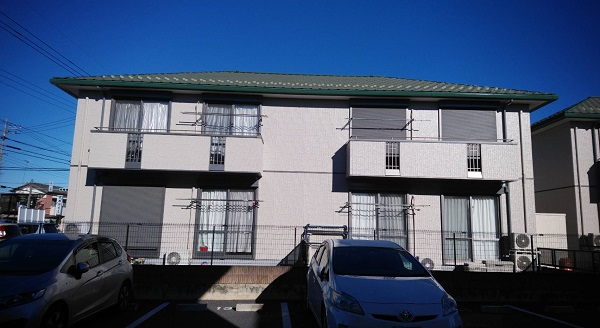 栃木県佐野市 アパート 外壁塗装