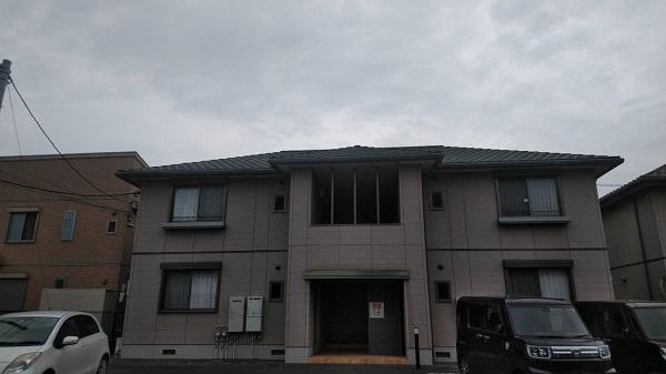 栃木県佐野市 アパート 外壁塗装 事前調査 外壁の劣化症状 (1)