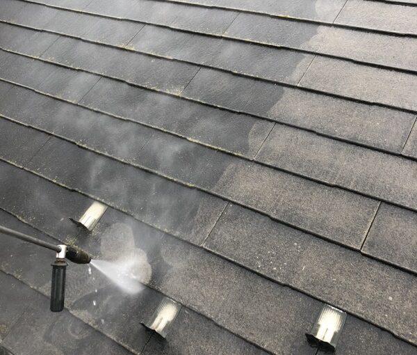 栃木県宇都宮市 屋根塗装・外壁塗装 下地処理 高圧洗浄作業 (7)