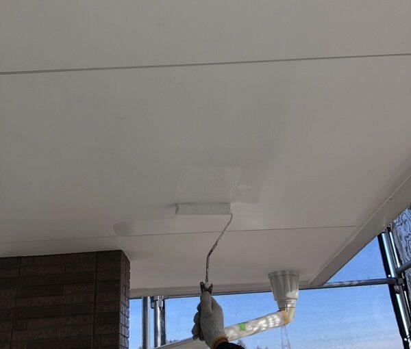 栃木県矢板市 外壁塗装 付帯部塗装 軒天塗装 日本ペイント ノキテンエース (2)
