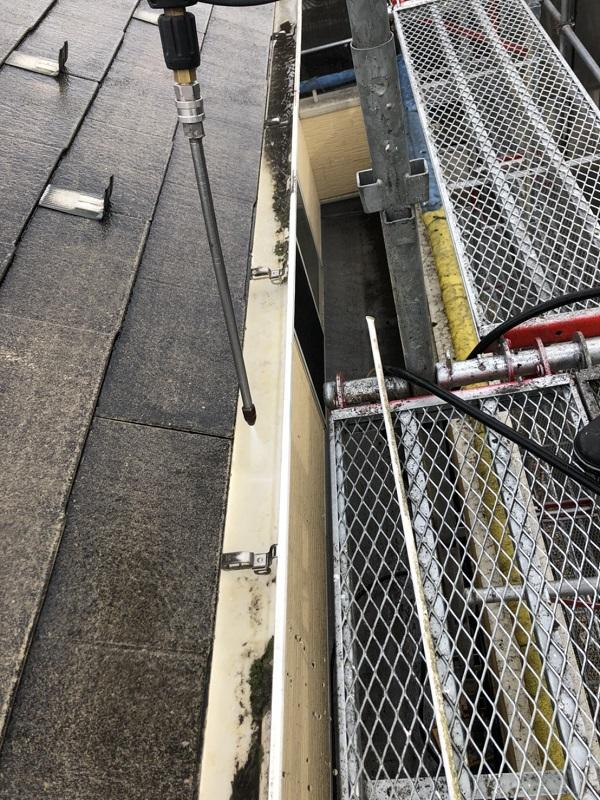 栃木県宇都宮市 屋根塗装・外壁塗装 下地処理 高圧洗浄作業 (8)