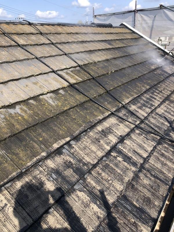 栃木県鹿沼市 屋根塗装・外壁塗装 下地処理 高圧洗浄