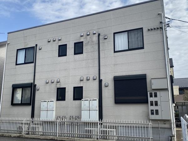 茨城県つくば市 アパート 外壁塗装・付帯部塗装 (2)