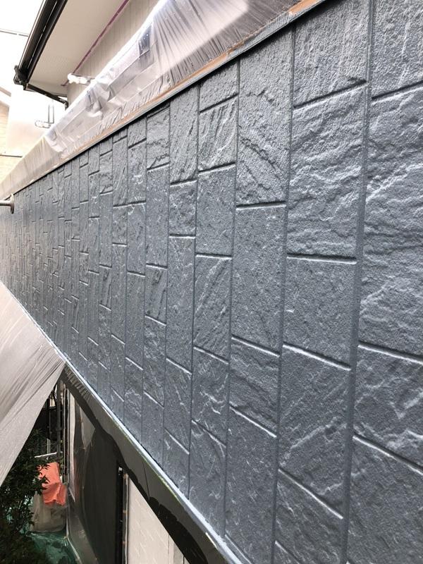 栃木県小山市 外壁塗装 中塗り 関西ペイント アレスダイナミックトップ (1)