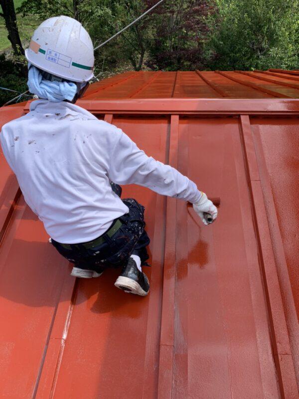 トタン屋根 上塗り